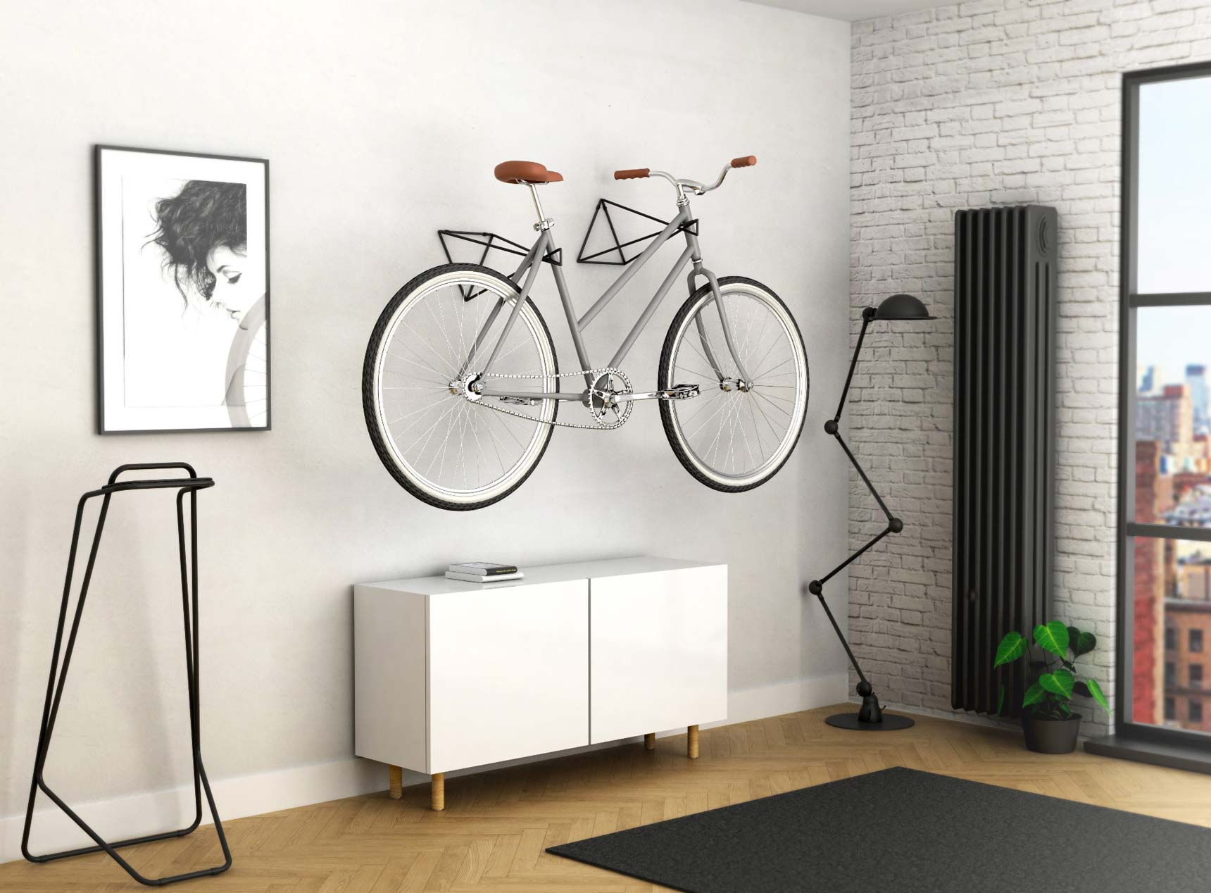 Rak Sepeda Untuk Menyimpan Sepeda Di Apartemen