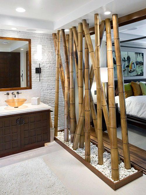 Sekat ruangan dari bambu
