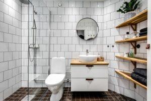Desain Kamar Mandi Minimalis Modern Gaya Skandinavia