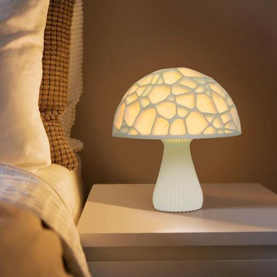 Dekorasi Kamar Tidur Dengan Lampu Tidur Unik